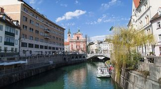 Ljubljana DMC - River Ljubljanica and Old Part of Ljubljana